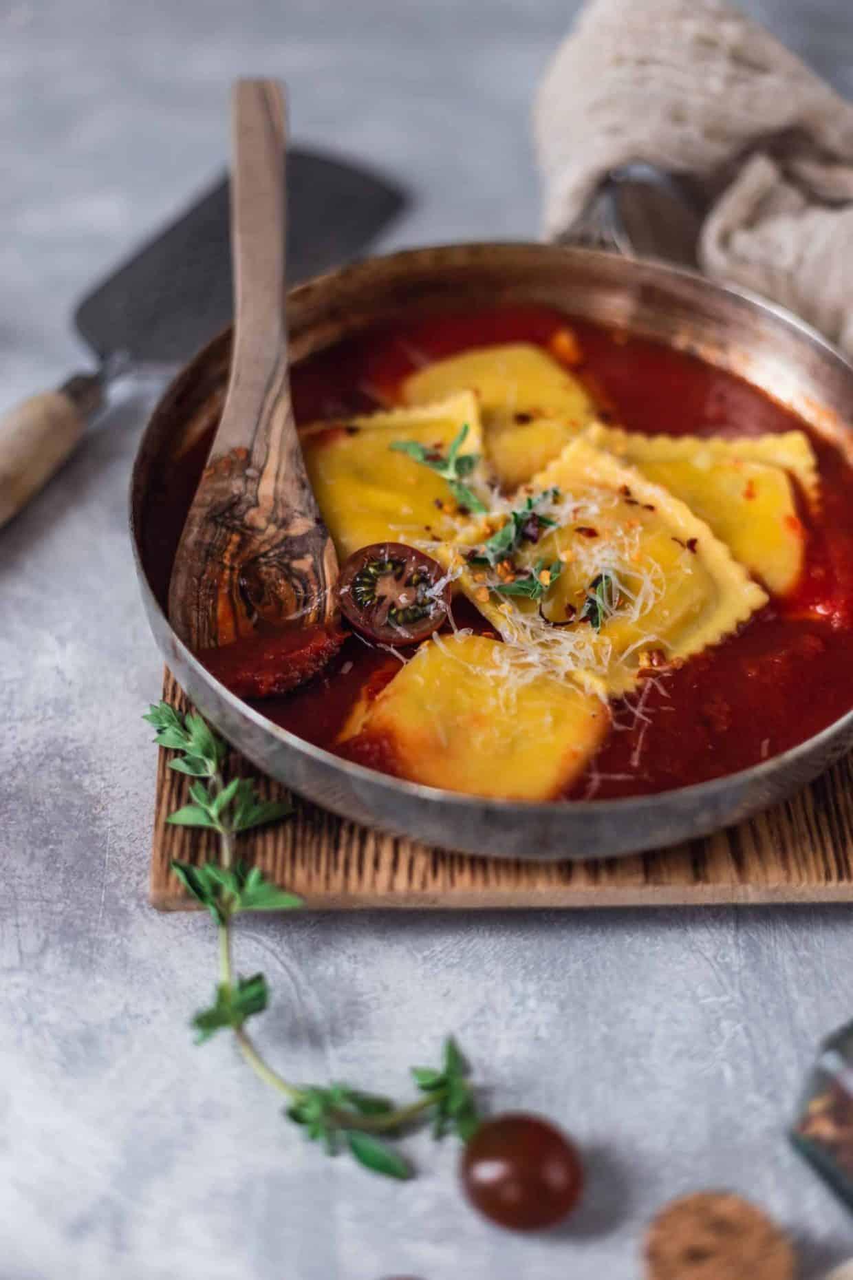 Caprese Ravioli & Marinara Sauce