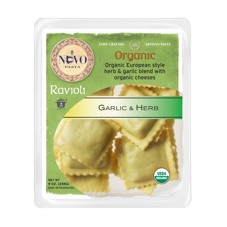 Organic Garlic & Herb Ravioli