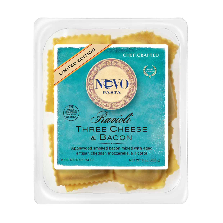 Three Cheese & Bacon Ravioli