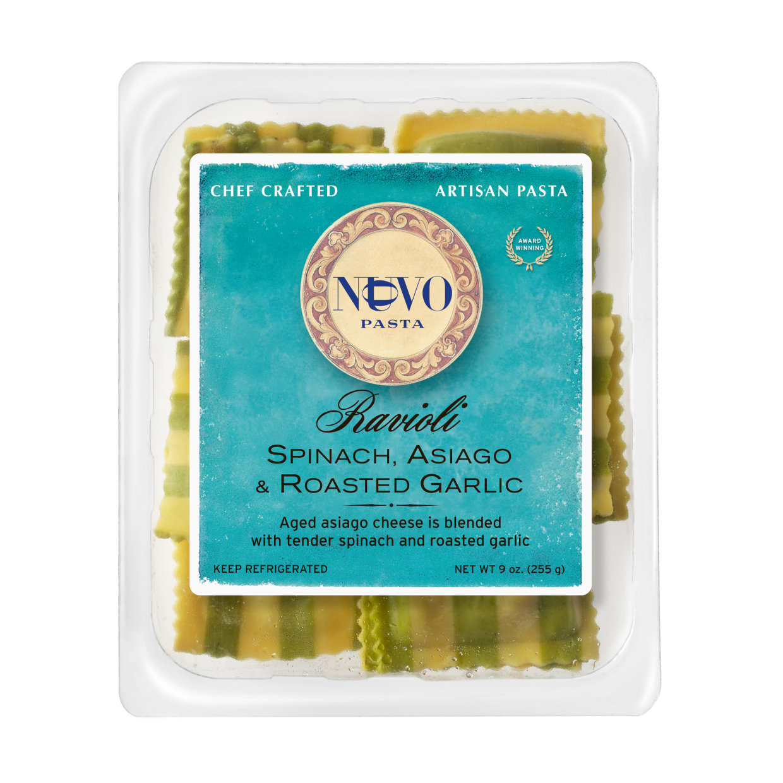 Spinach, Asiago & Roasted Garlic Ravioli