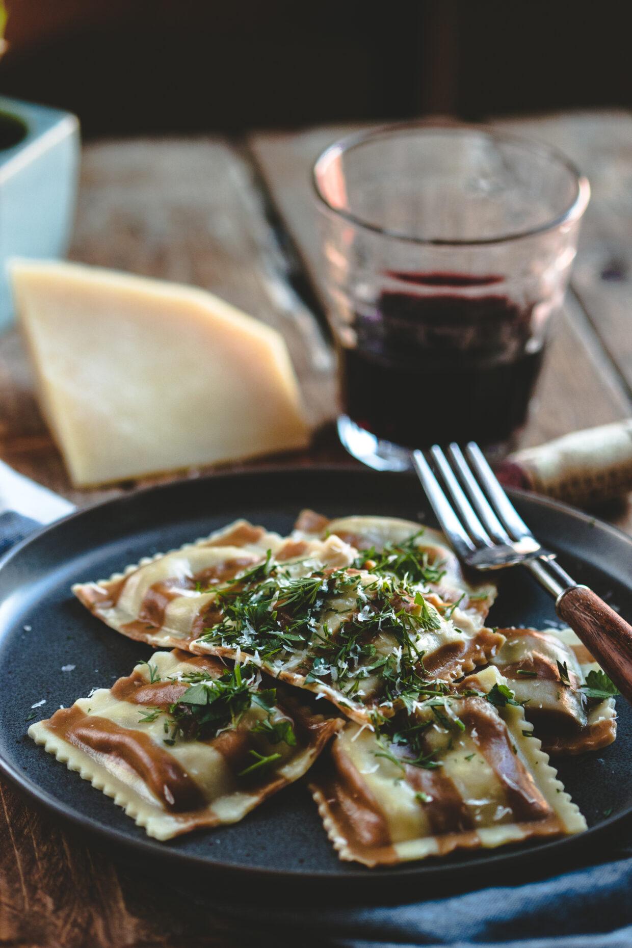 Portabella & Fontina Cheese Ravioli