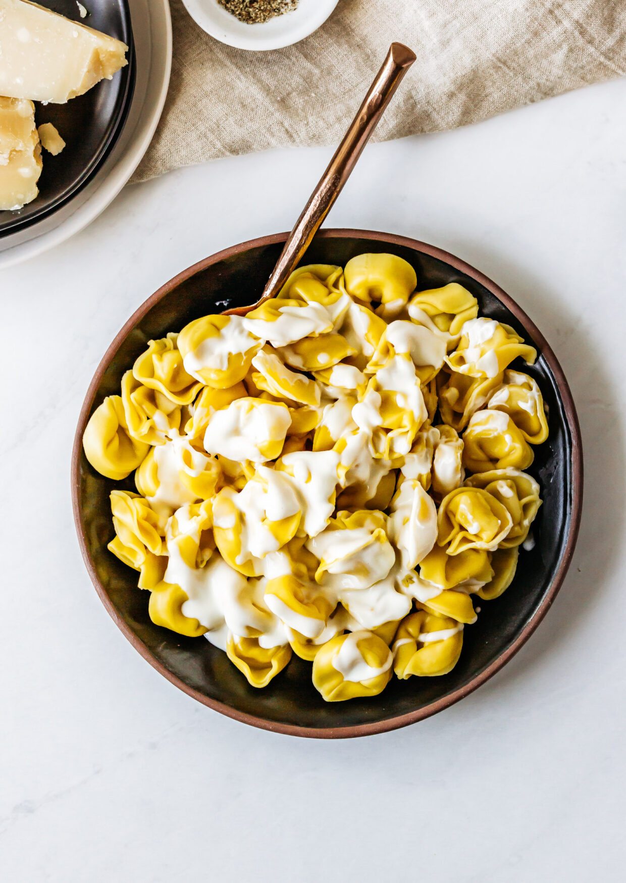 Ricotta & Parmigiano Tortellini with Parmigiano Cream