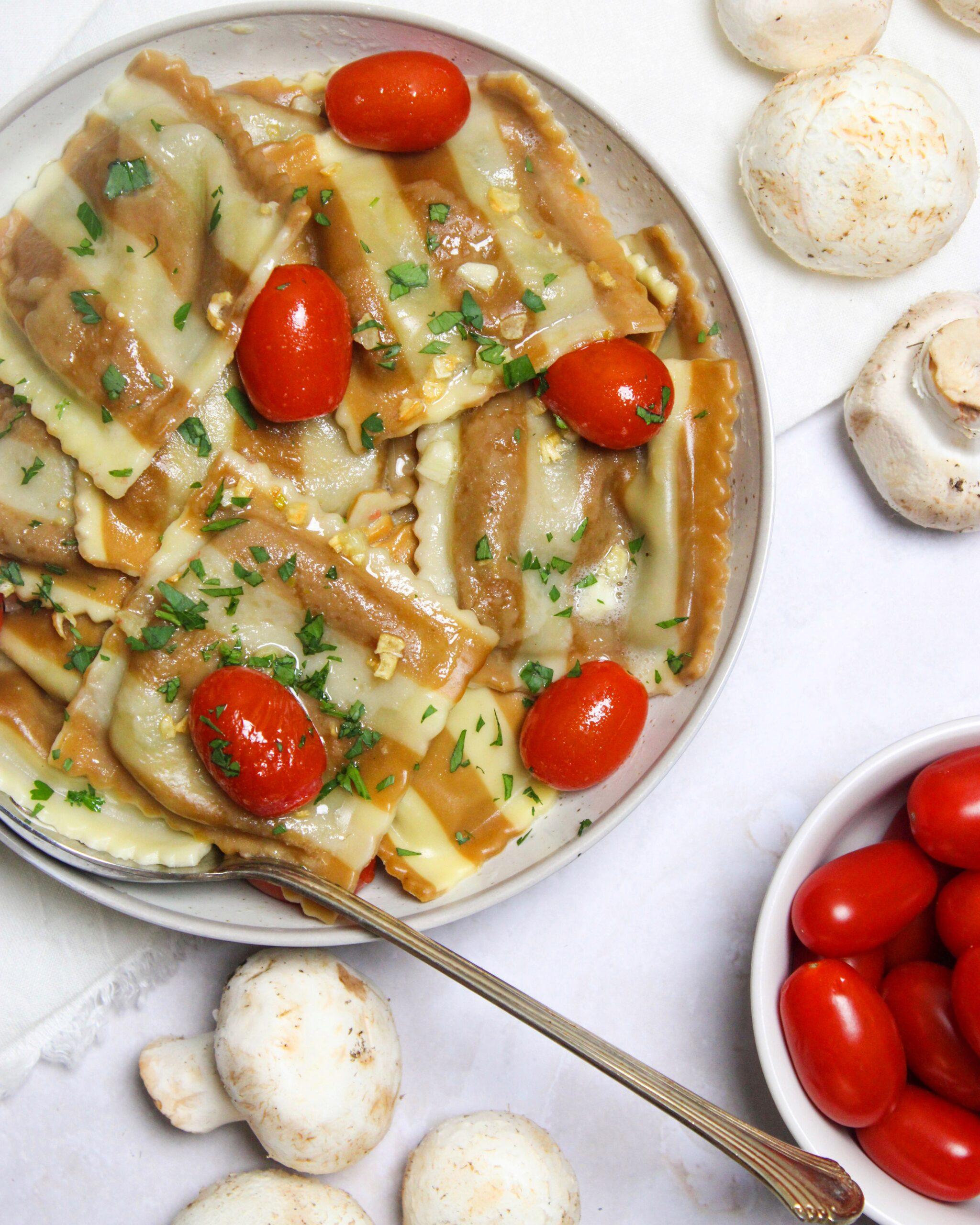 Portabella and Fontina Cheese Ravioli