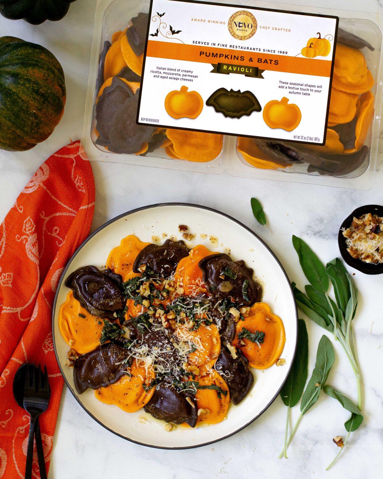 Pumpkins & Bats Ravioli